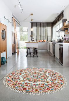 5 Round Rug Fl Area Rugs Circular Affordable Oriental For