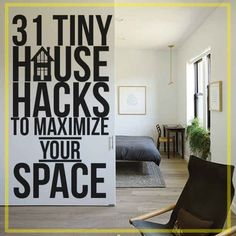 31 Tiny House Hacks To Maximize Your Space. So many great design choices.
