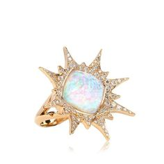 Stephen Webster Explosion Ring (100,720 HKD) ❤ liked on Polyvore featuring jewelry, rings, women, stephen webster rings, stephen webster, white jewelry, white ring and stephen webster jewelry