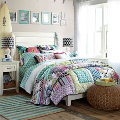 Find cute and cool girls bedroom ideas at Pottery Barn Teen. Shop your dream room with our teen room inspiration and ideas. Preteen Girls Rooms, Teenage Girl Bedrooms, Girls Bedroom Furniture, Kids Bedroom, Bedroom Decor, Bedroom Ideas, Bedroom Frames, White Furniture, Bedroom Inspiration