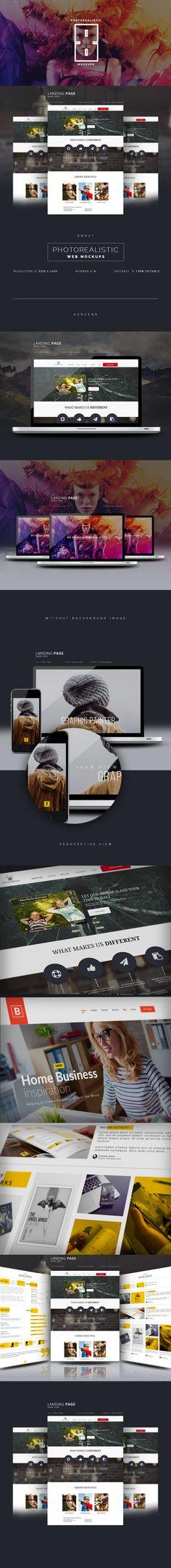 Website Display Mockup on Behance