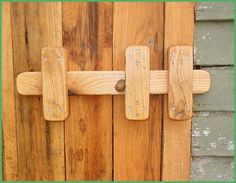 how to make wooden latches for doors - Google Search