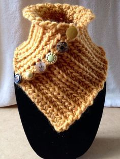 BRAND NEW Hand Crocheted Mustard Yellow Neck by TwistedTatters