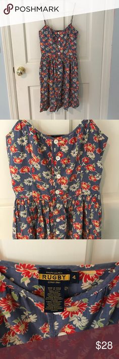 Ralph Lauren Rugby Sundress Floral print, cotton sundress. Barely worn, very good condition Ralph Lauren Dresses Midi