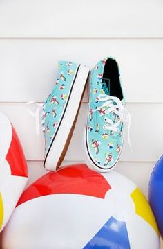Make a splash with the Pool Vibes Authentic in Aqua Sea True White.  Awesome. Vans ad47ebec3