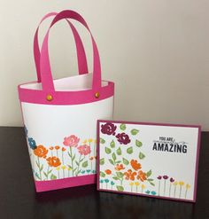A card kit inside a beautiful paper bag using the same stamp set. Go to my blog and find a link to a video tutorial.