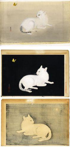 Cats and Butterfly, Omura Koyo
