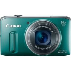 Canon PowerShot SX260 HS 12.1 MP CMOS Digital Camera with 20x Image Stabilized Zoom 25mm Wide-Angle Lens and 1080p Full-HD Video (Green) by Canon, http://www.amazon.com/dp/B0075SUKBO/ref=cm_sw_r_pi_dp_XbpMrb15GC1F5