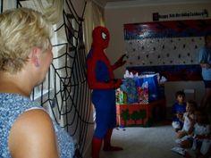 Printable Spiderman Birthday Banner in Publisher