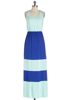 Beachside Radiance Dress. Youre looking resort-ready and beautiful in this colorblocked maxi dress!  #modcloth
