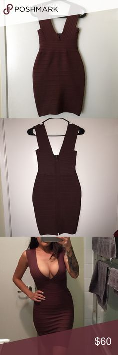 TicToc Bodycon Dress This body on dress will hug your curves in all the right places! 95% Polyester 5% Spandex. Only worn once and in like new condition! Tic Toc Dresses Midi