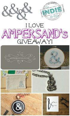 I Love Ampersands Giveaway - My So-Called Chaos