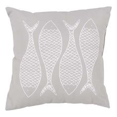 RG170 Indoor Outdoor Pillow - Fishes Putty  - Buy at SeasideBeachDecor.com