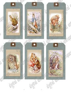 Beatrix Potter Animal Image Tags