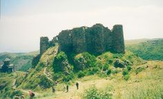 Ruined castle with chapel, Armenia