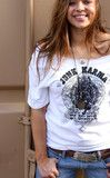 Size Large..unisex junk karma tee on an old style concert tee!! (cut the neck out of the one pictured!)...