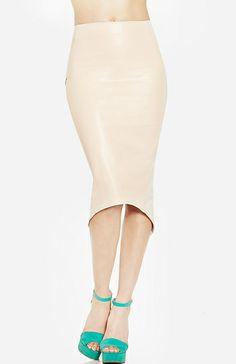 Leatherette Pencil Skirt $30