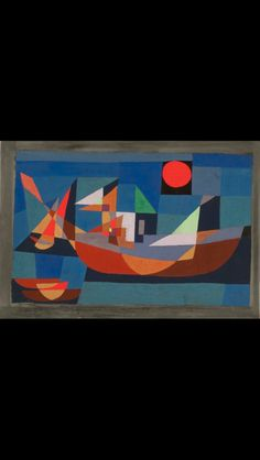 Paul Klee Ruhende Schiffe Ships at Rest 1927