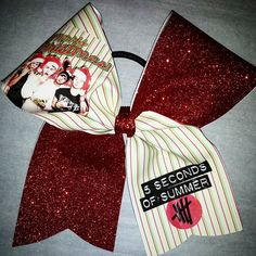 5sos  Merry Christmas CHEER BOW by bowzingabows on Etsy