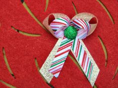 Hair Bow Girls Baby Holiday Christmas by LottiesLoveliesBows, $3.99