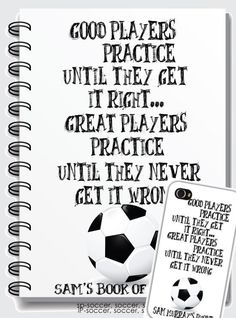Personalized Fun Notebooks  Soccer Soccer Soccer by TIPgifts, $20.75