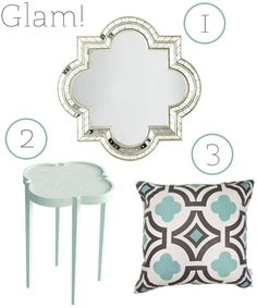 Get The Look: Quatrefoil  Don't forget to print our free personalized quatrefoil monogram this week!