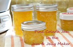 Pina Colada Jam in the Ball Automatic Jam & Jelly Maker from @Arlene @ Flour On My Face!