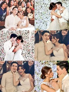 Aldub's Wedding. #Couple Maine Mendoza, Alden Richards, What Happened To Us, Bridesmaid Dresses, Wedding Dresses, Wedding Photos, My Favorite Things, Couples, Taeyong