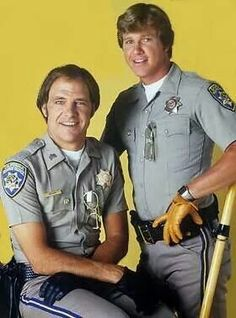 Sgt Joe Getraer & Officer Jon Baker of CHiPs. These guys are the reason I have a thing for motor cops. Larry Wilcox, Nostalgia Critic, California Highway Patrol, 70s Tv Shows, Cop Show, Hot Cops, How To Look Handsome, Men In Uniform, Chris Pine