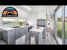 Custom Travel Trailer Tiny Home - Elevator Bed & Fold Down Patio - YouTube