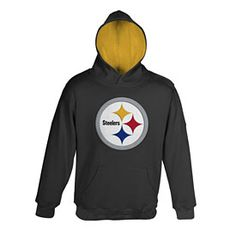 a2cf64819 Make sure your little one keeps warm this football season with this  Pittsburgh Steelers Preschool Primary Hooded Sweatshirt! This sweatshirt is  all black ...
