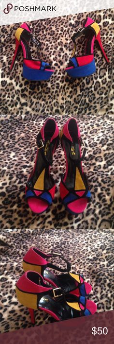 Multi color pumps EXCELLENT CONDITIONSHOW STOPING!!! Super stylish Shoes Heels
