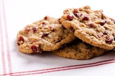 Cranberry almond cookies using pumpkin instead of butter to cut the fat and calories in HALF!