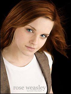 Rose Weasley. She looks like Hermione and Ginny. So pretty.