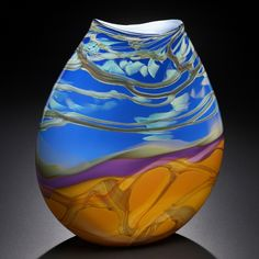 Fields and Fields blown glass catalog featuring finely crafted floral bowls, vases, spheres, petroglyphs, and glass pouches. Vases, Art Of Glass, Glass Ceramic, Art Festival, Hand Blown Glass, Colored Glass, Decoration, Stained Glass, Fused Glass