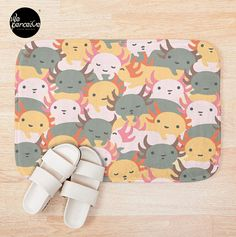- Printed foam with non-slip bottom - High quality full color printing that won't fade - 100% polyester microfiber face and polyester back - Available in multiple sizes - Machine wash cold  #weperceivestyle #bathmat #bathroomdecor #bathmat #home #newdesigns #axolotls #axolotl #walkingfish #illustrationdesign #graphicillustration #axolotllove #axolotllover #patterndesign #patternlove #designforliving #designlovers #livingproducts #illustrationlove