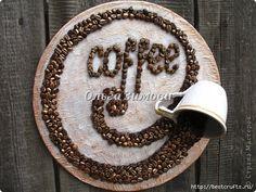 CLUB DE LAS AMIGAS DE LAS MANUALIDADES (pág. 105) | Aprender manualidades es facilisimo.com Coffee Latte, I Love Coffee, Coffee Break, Coffee Shop, Coffee Bean Art, Diy And Crafts, Arts And Crafts, Coffee Crafts, Brown Art