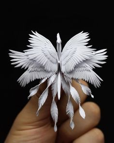 Art - Crane (Bird) Cristian Marianciuc is an artist of origami! He challenges himself every day and creates some wondeOrigami Art - Crane (Bird) Cristian Marianciuc is an artist of origami! He challenges himself every day and creates some wonde Kirigami, Origami Paper Art, Origami Cranes, Paper Cranes, Origami Artist, Origami Ball, Origami Folding, Paper Folding, Origami Dragon