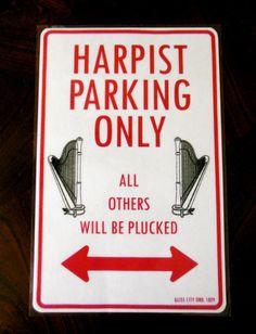 Harp Parking Sign | eBay