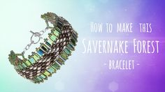 Learn How to make this Savernake Forest Bracelet | Seed Beads