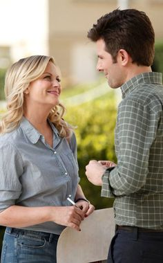 Parks and Recreation from Best TV Moments Best Tv Couples, Cute Couples, Movies Showing, Movies And Tv Shows, Leslie And Ben, Parks And Recs, Ben Wyatt, Leslie Knope, People Talk