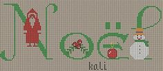 """Grille """"Noël"""" - Le blog de kali Christmas Gift Bags, Noel Christmas, Christmas And New Year, Cross Stitch Freebies, Cross Stitch Charts, Cross Stitch Patterns, Xmas Ornaments, Blog, Holidays And Events"""