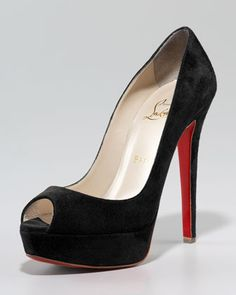 Banana Suede Platform Pump by Christian Louboutin