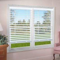 Our 2 in. Premium Vinyl Blinds feature a unique S-slat design to prevent light from filtering when closed. These blinds will give any room an elegant and classic look. Great for privacy and light control. Wooden Window Blinds, Vertical Window Blinds, Horizontal Blinds, Faux Wood Blinds, Blinds For Windows, Blinds Design, Window Design, Window Coverings, Window Treatments