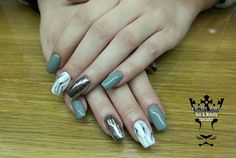 #nails #nailart #mirroreffect #marblenails #handmadenailart