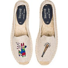 Soludos Pinata Embroidery SM Slipper Shoes (1 800 UAH) ❤ liked on Polyvore featuring shoes, slippers and flats