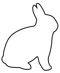 easter bunny cartoon clip art. This will be used to make a reverse applique pillow.  How cool will that be?