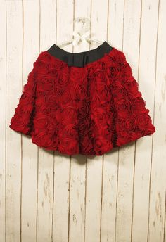 #chicwish  My Bonnie Red Rose - Skirt - Bottoms - Retro, Indie and Unique Fashion