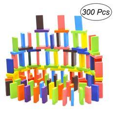 100pcs Animal Friut Pattern Wooden Domino Block Toys for Children Play Intellige