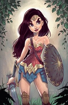 "chrissiezullo: ""Colored in my Wonder Woman sketch from last week! Had to get it out of my system . ! """